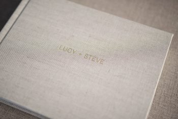 Linen Wedding Photo Album