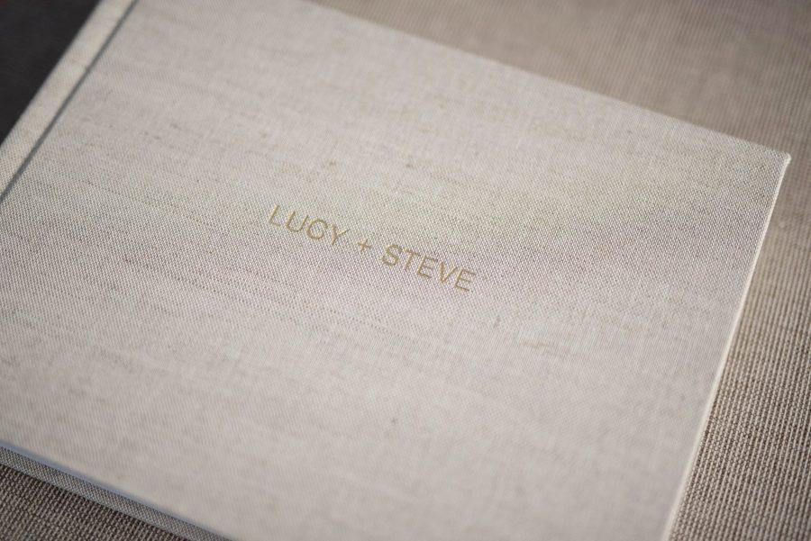 Linen Wedding Photo Album