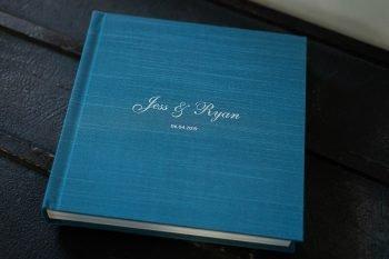 Wedding Album with Silk Fabric Cover