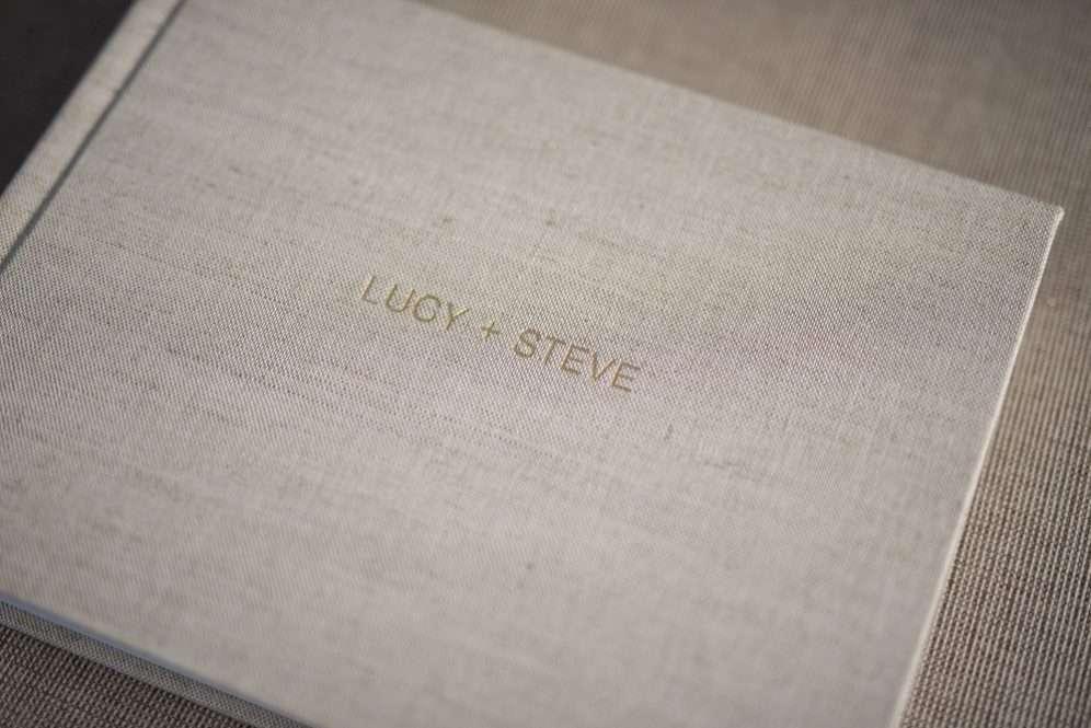 Linen Wedding Album with Embossing - Album Cover Embossing