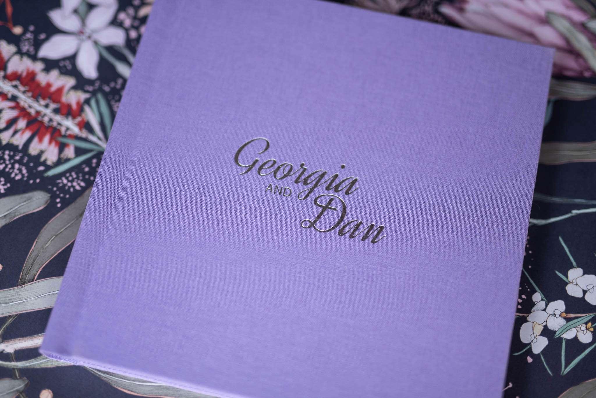 Pretty Linen Wedding Photo Album Covers