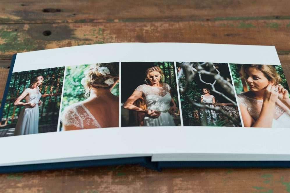 Wedding Album Square Leather & Fabric Covered Fine Art Wedding Albums & Books