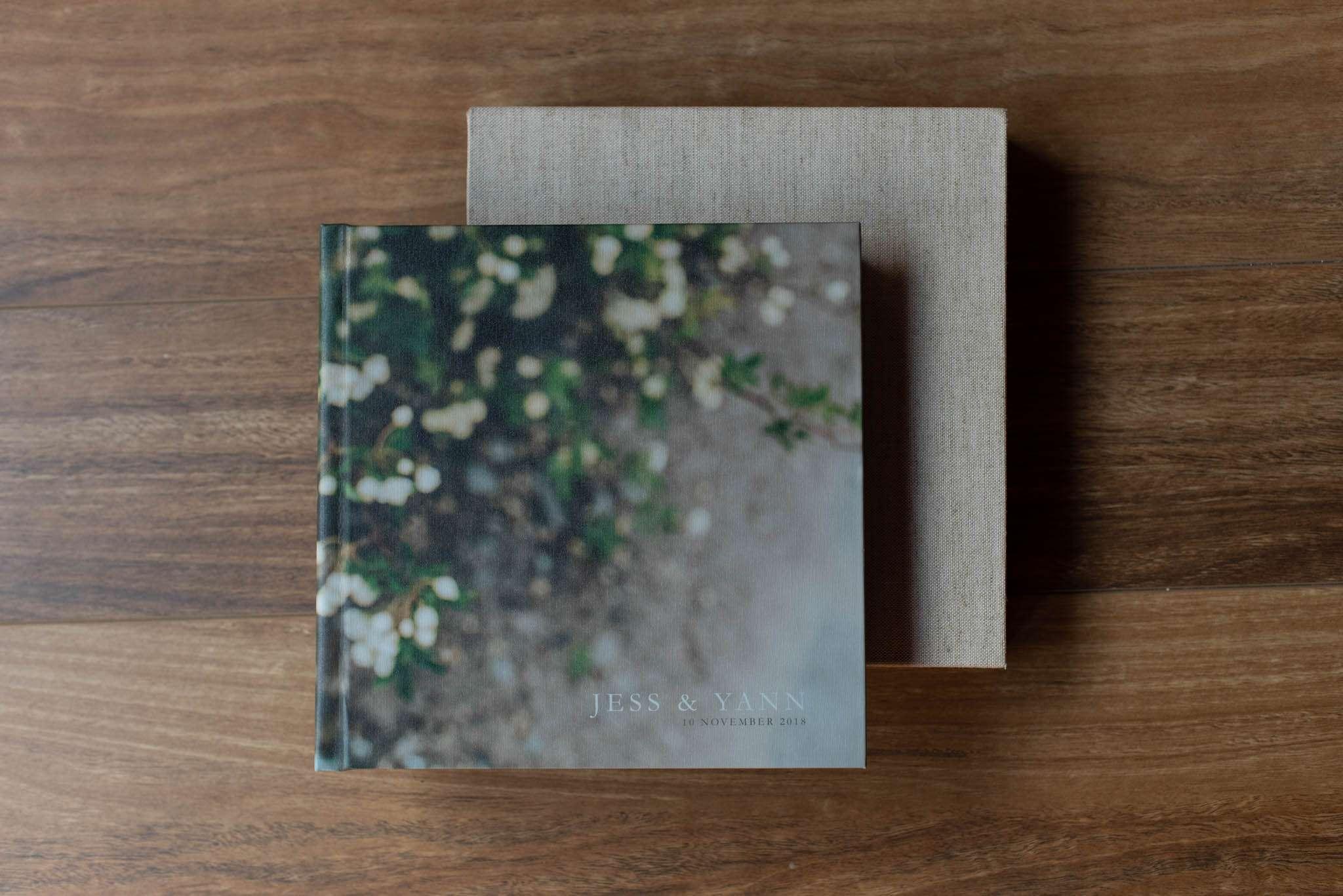 Photo-Wrap Wedding Album with Linen Slipcase