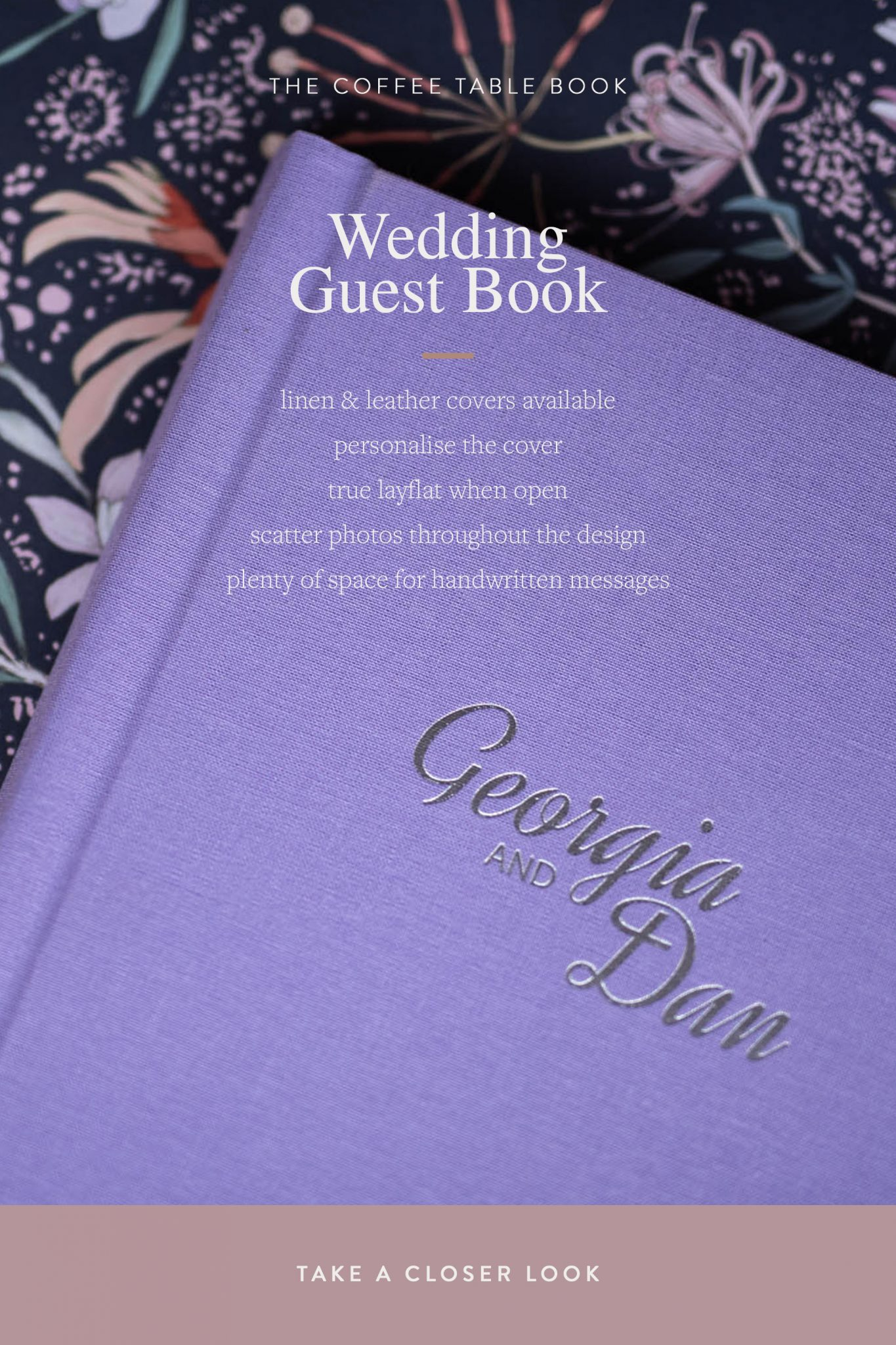Wedding Guest Books - The Coffee Table Book. Unique Linen & Leather Guestbooks.